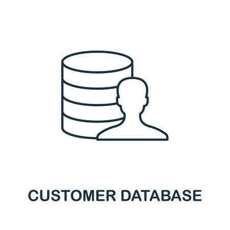 Customer Database icon. Simple line element from loyalty program collection. Filled Customer Database icon for templates, infographics and more.