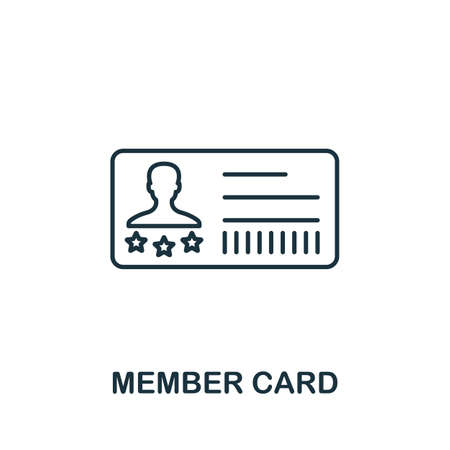 Member Card icon. Simple line element from loyalty program collection. Filled Member Card icon for templates, infographics and more.