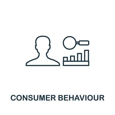 Consumer Behavior icon. Simple line element from loyalty program collection. Filled Consumer Behavior icon for templates, infographics and more.