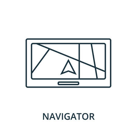 Navigator icon. Simple line element from navigation collection. Filled Navigator icon for templates, infographics and more. Ilustracja