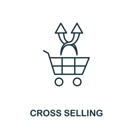 Cross Selling icon. Simple line element from loyalty program collection. Filled Cross Selling icon for templates, infographics and more.