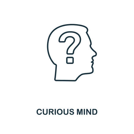 Curious Mind icon. Simple line element from personality collection. Filled Curious Mind icon for templates, infographics and more.