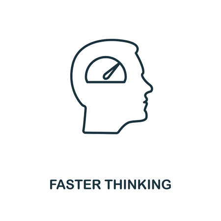 Faster Thinking icon. Simple line element from personality collection. Filled Faster Thinking icon for templates, infographics and more.