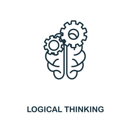 Logical Thinking icon. Simple line element from personality collection. Filled Logical Thinking icon for templates, infographics and more. Ilustracja