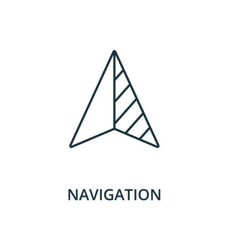 Navigation icon. Simple line element from navigation collection. Filled Navigation icon for templates, infographics and more.