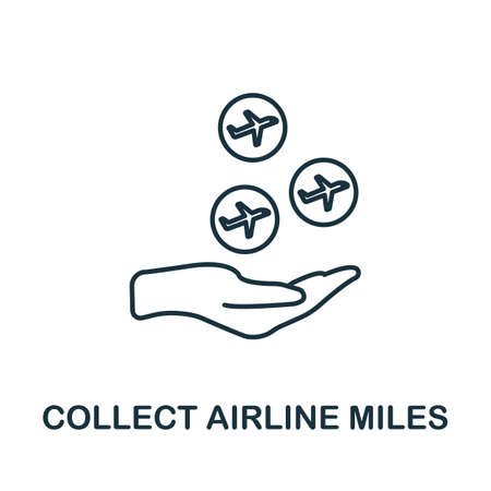 Collect Airline Miles icon. Simple line element from loyalty program collection. Filled Collect Airline Miles icon for templates, infographics and more.