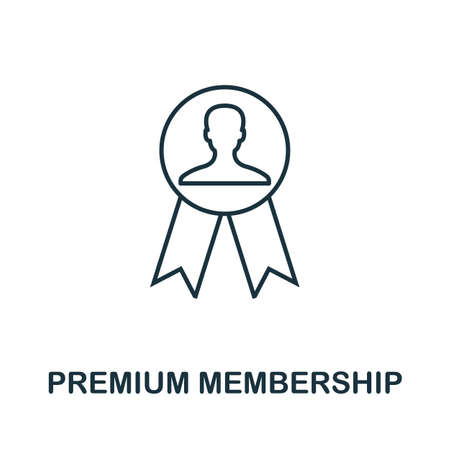 Premium Membership icon. Simple line element from loyalty program collection. Filled Premium Membership icon for templates, infographics and more.