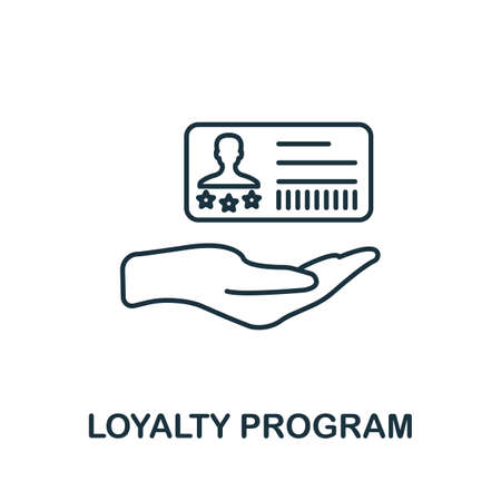 Loyalty Program icon. Simple line element from loyalty program collection. Filled Loyalty Program icon for templates, infographics and more.