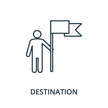 Destination icon. Simple line element from navigation collection. Filled Destination icon for templates, infographics and more.