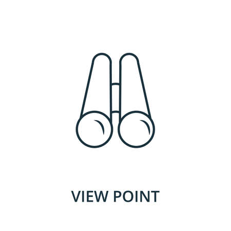 View Point icon. Simple line element from navigation collection. Filled View Point icon for templates, infographics and more. Ilustracja