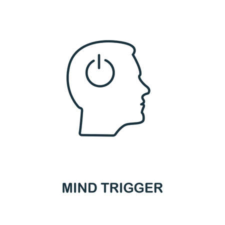 Mind Trigger icon. Simple line element from personality collection. Filled Mind Trigger icon for templates, infographics and more.