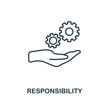 Responsibility icon. Simple line element from personality collection. Filled Responsibility icon for templates, infographics and more.