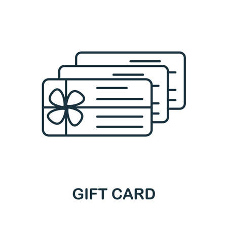 Gift Card icon. Simple line element from loyalty program collection. Filled Gift Card icon for templates, infographics and more.