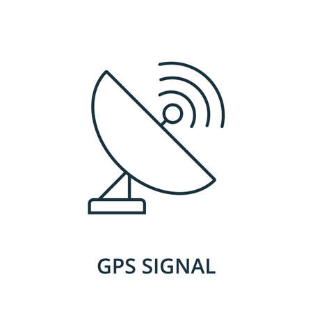 Gps Signal icon. Simple line element from navigation collection. Filled Gps Signal icon for templates, infographics and more.
