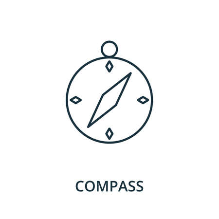 Compass icon. Simple line element from navigation collection. Filled Compass icon for templates, infographics and more.
