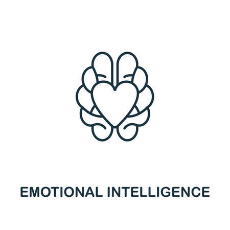 Emotional Intelligence icon. Simple line element from personality collection. Filled Emotional Intelligence icon for templates, infographics and more.