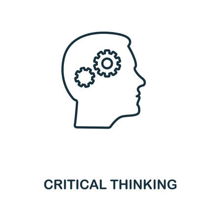 Critical Thinking icon. Simple line element from personality collection. Filled Critical Thinking icon for templates, infographics and more. Ilustracja