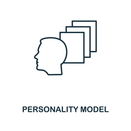 Personality Model icon. Simple line element from personality collection. Filled Personality Model icon for templates, infographics and more.