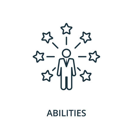 Abilities icon. Simple line element from reputation management collection. Filled Abilities icon for templates, infographics and more.