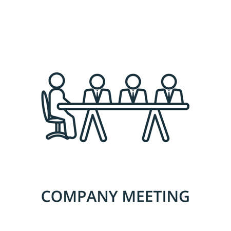 Company Meeting icon. Simple line element from reputation management collection. Filled Company Meeting icon for templates, infographics and more.