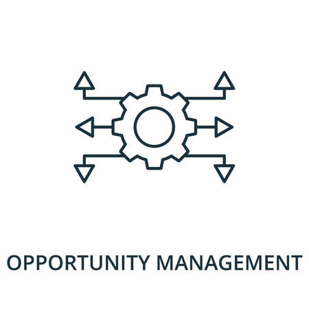 Opportunity Management icon. Simple line element from reputation management collection. Filled Opportunity Management icon for templates, infographics and more.