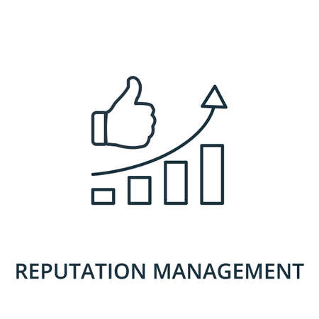 Reputation Management icon. Simple line element from reputation management collection. Filled Reputation Management icon for templates, infographics and more. Ilustracja