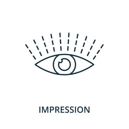 Impression icon. Simple line element from reputation management collection. Filled Impression icon for templates, infographics and more.