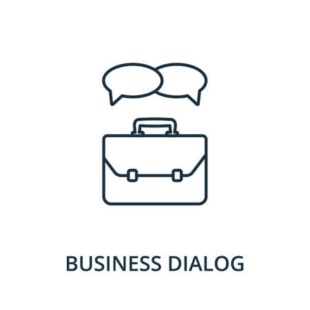 Business Dialog icon. Simple line element from reputation management collection. Filled Business Dialog icon for templates, infographics and more.