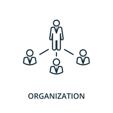 Organization icon. Simple line element from reputation management collection. Filled Organization icon for templates, infographics and more.