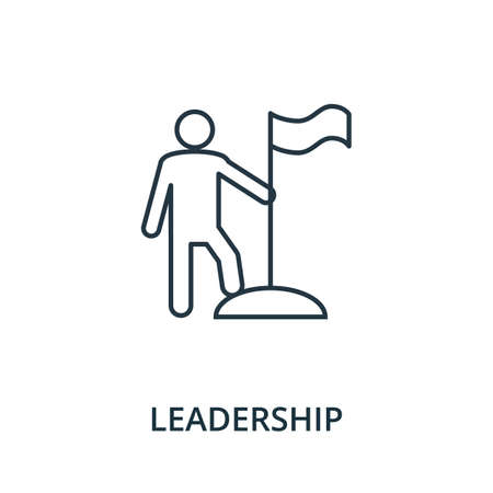 Leadership icon. Simple line element from reputation management collection. Filled Leadership icon for templates, infographics and more.