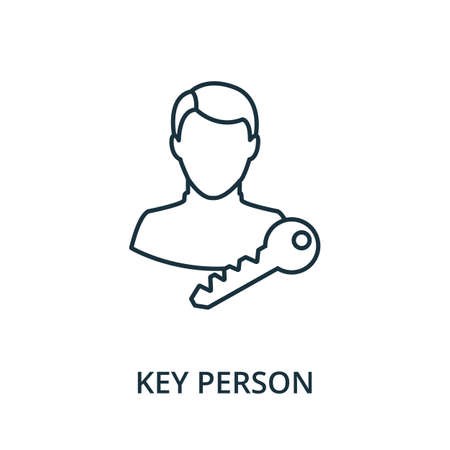Key Person icon. Simple line element from reputation management collection. Filled Key Person icon for templates, infographics and more.