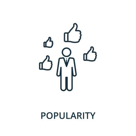Popularity icon. Simple line element from reputation management collection. Filled Popularity icon for templates, infographics and more.