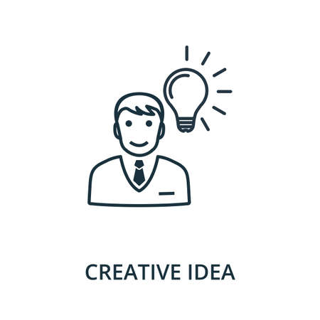 Creative Idea icon. Simple line element from reputation management collection. Filled Creative Idea icon for templates, infographics and more.