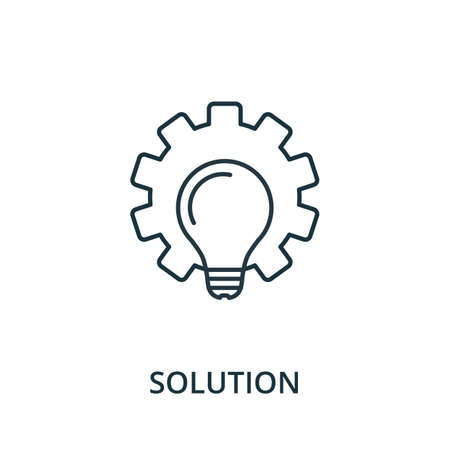 Personal Solution icon. Simple line element from reputation management collection. Filled Personal Solution icon for templates, infographics and more. Ilustracja