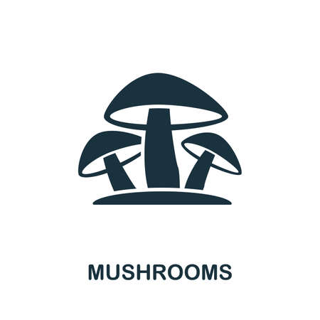 Mushrooms icon vector illustration. Creative sign from mushrooms icons collection. Filled flat Mushrooms icon for computer and mobile. Symbol, logo vector graphics.