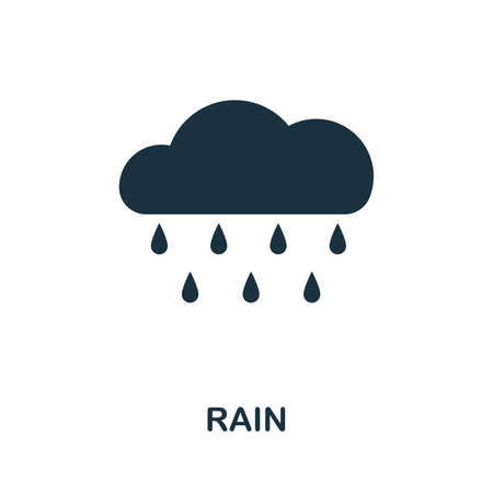 Rain icon vector illustration. Creative sign from rain icons collection. Filled flat Rain icon for computer and mobile. Symbol, logo vector graphics.