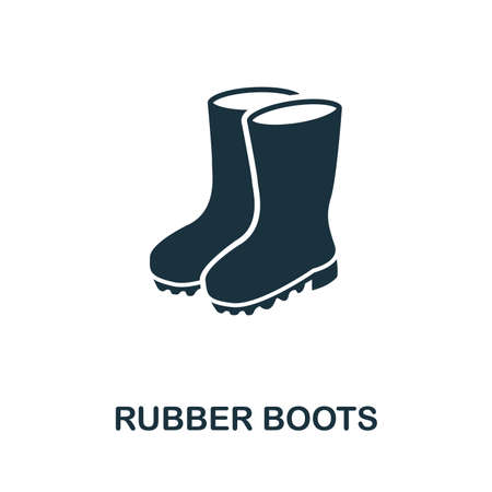Rubber Boots icon vector illustration. Creative sign from rubber boots icons collection. Filled flat Rubber Boots icon for computer and mobile. Symbol, logo vector graphics.