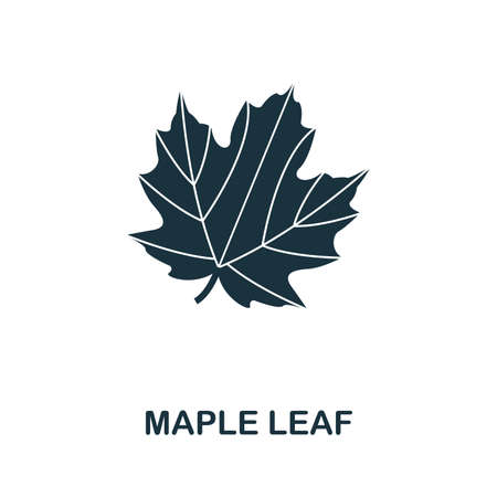 Maple Leaf icon vector illustration. Creative sign from maple leaf icons collection. Filled flat Maple Leaf icon for computer and mobile. Symbol, logo vector graphics.