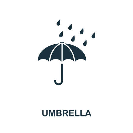 Umbrella icon vector illustration. Creative sign from umbrella icons collection. Filled flat Umbrella icon for computer and mobile. Symbol, logo vector graphics.