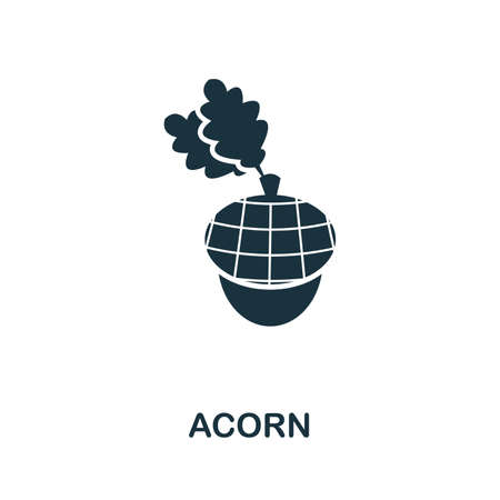 Acorn icon vector illustration. Creative sign from acorn icons collection. Filled flat Acorn icon for computer and mobile. Symbol, logo vector graphics. Ilustracja
