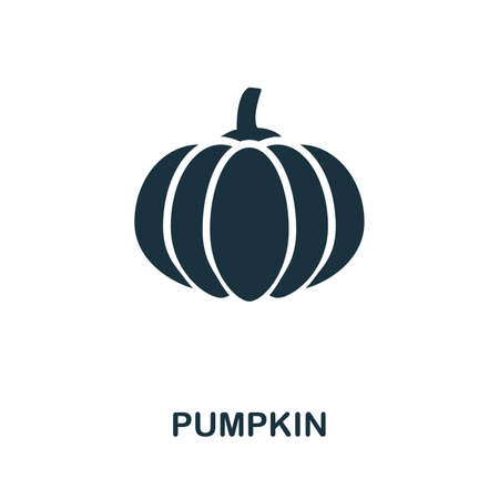 Pumpkin icon vector illustration. Creative sign from pumpkin icons collection. Filled flat Pumpkin icon for computer and mobile. Symbol, logo vector graphics.