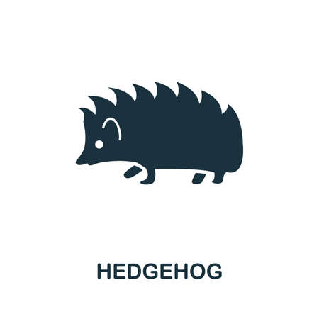Hedgehog icon vector illustration. Creative sign from hedgehog icons collection. Filled flat Hedgehog icon for computer and mobile. Symbol, logo vector graphics.