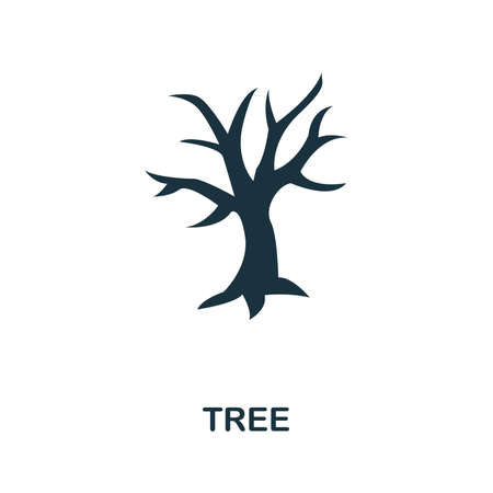 Tree icon vector illustration. Creative sign from tree icons collection. Filled flat Tree icon for computer and mobile. Symbol, logo vector graphics. Ilustracja