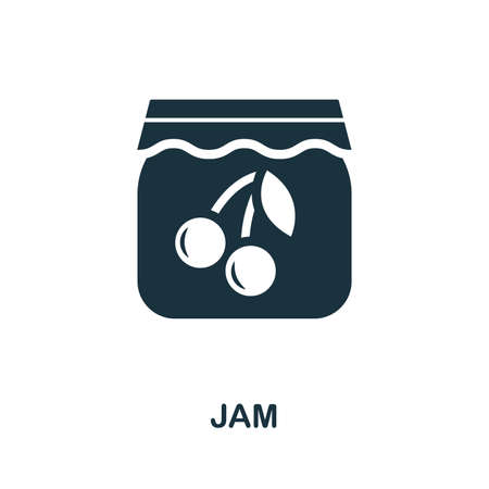 Jam icon vector illustration. Creative sign from jam icons collection. Filled flat Jam icon for computer and mobile. Symbol, logo vector graphics.