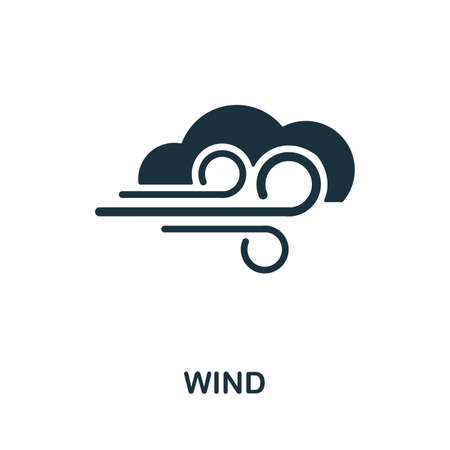 Wind icon vector illustration. Creative sign from wind icons collection. Filled flat Wind icon for computer and mobile. Symbol, logo vector graphics.