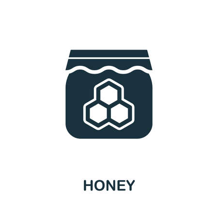 Honey icon vector illustration. Creative sign from honey icons collection. Filled flat Honey icon for computer and mobile. Symbol, logo vector graphics.