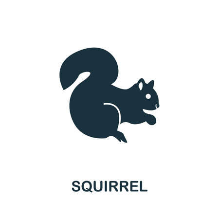 Squirrel icon vector illustration. Creative sign from squirrel icons collection. Filled flat Squirrel icon for computer and mobile. Symbol, logo vector graphics. Ilustracja