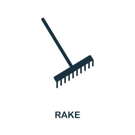 Rake icon vector illustration. Creative sign from rake icons collection. Filled flat Rake icon for computer and mobile. Symbol, logo vector graphics. Ilustracja