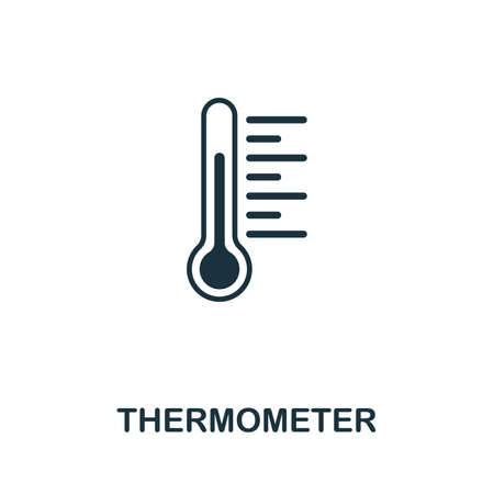 Thermometer icon vector illustration. Creative sign from thermometer icons collection. Filled flat Thermometer icon for computer and mobile. Symbol, logo vector graphics.