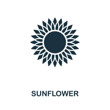 Sunflower icon vector illustration. Creative sign from sunflower icons collection. Filled flat Sunflower icon for computer and mobile. Symbol, logo vector graphics. Ilustracja